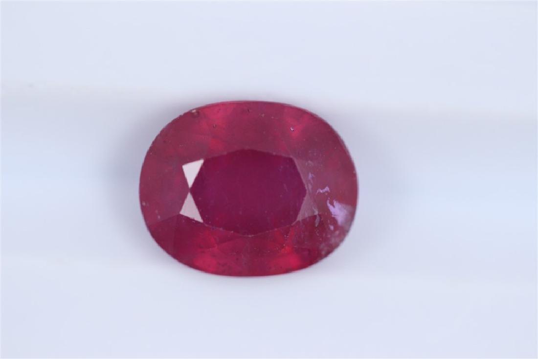 3.84ct Ruby Oval cut