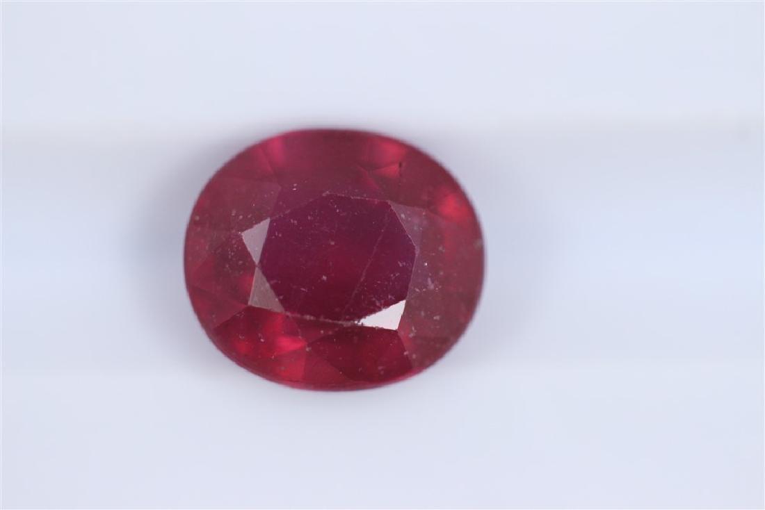 3.71ct Ruby Oval cut