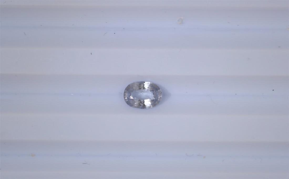 0.9ct Natural Ceylon White Sapphire 1pc Oval cut