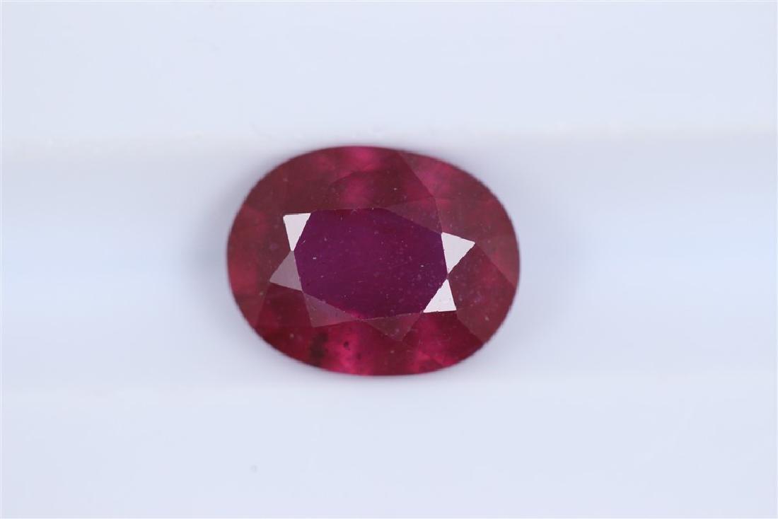 2.31ct Ruby Oval cut