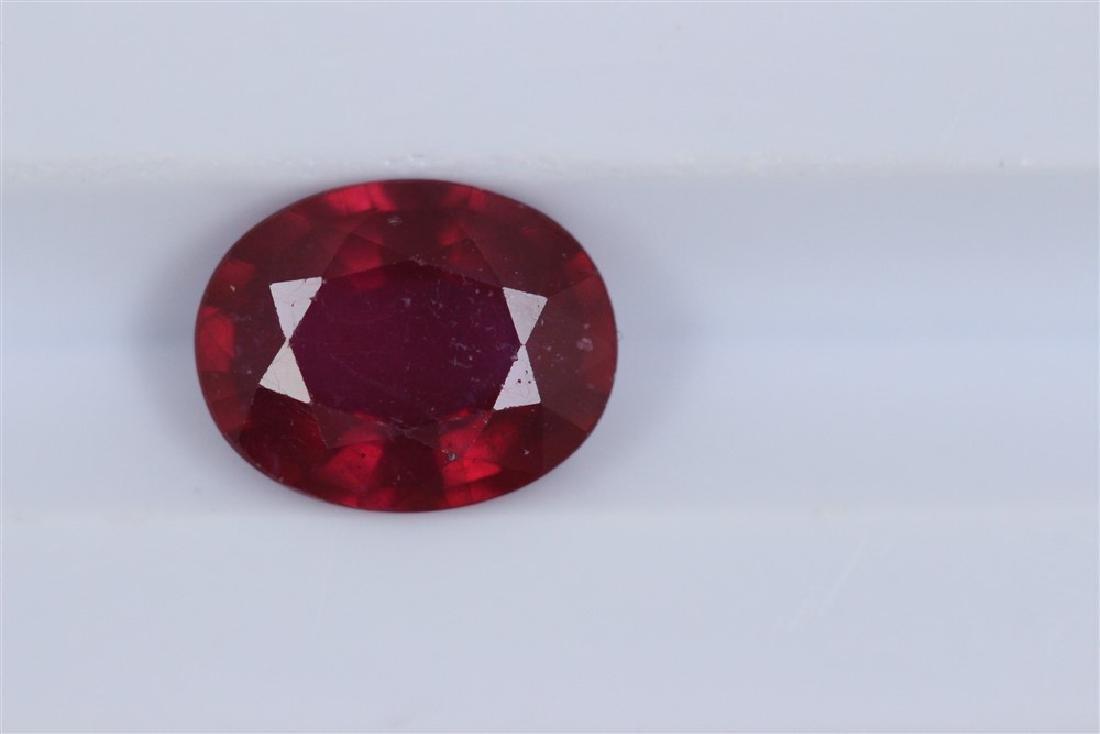 2.29ct Ruby Oval cut
