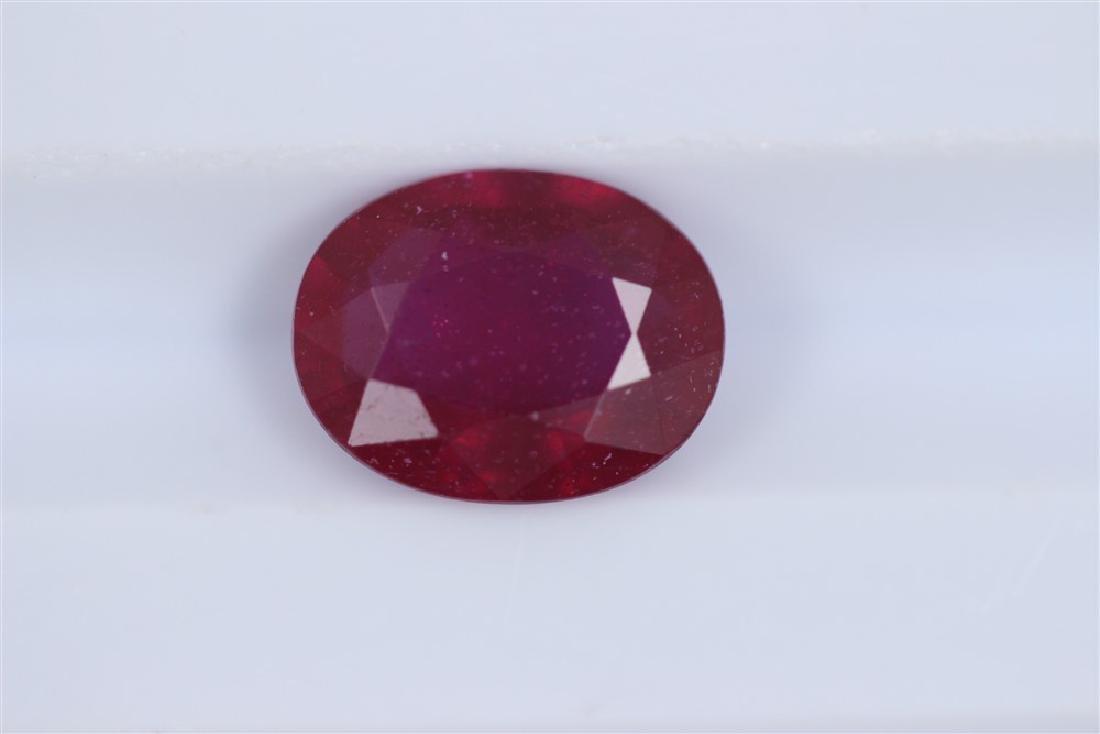 2.37ct Ruby Oval cut