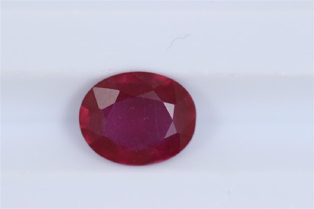 2ct Ruby Oval cut