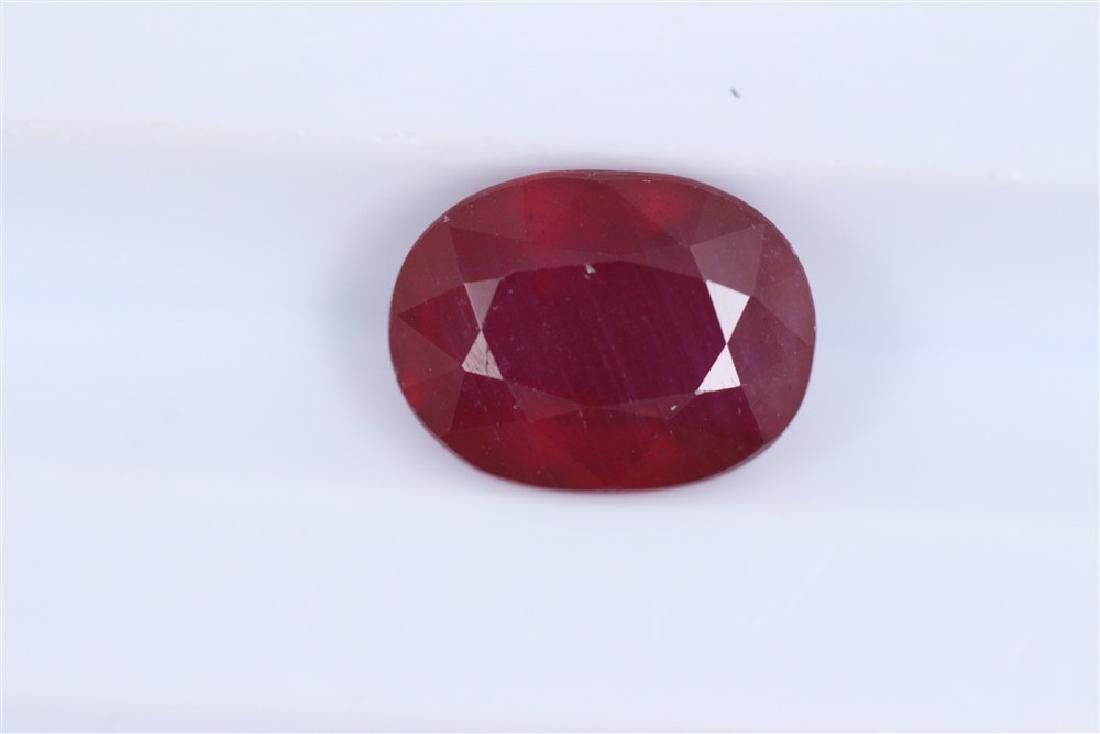 2.66ct Ruby Oval cut