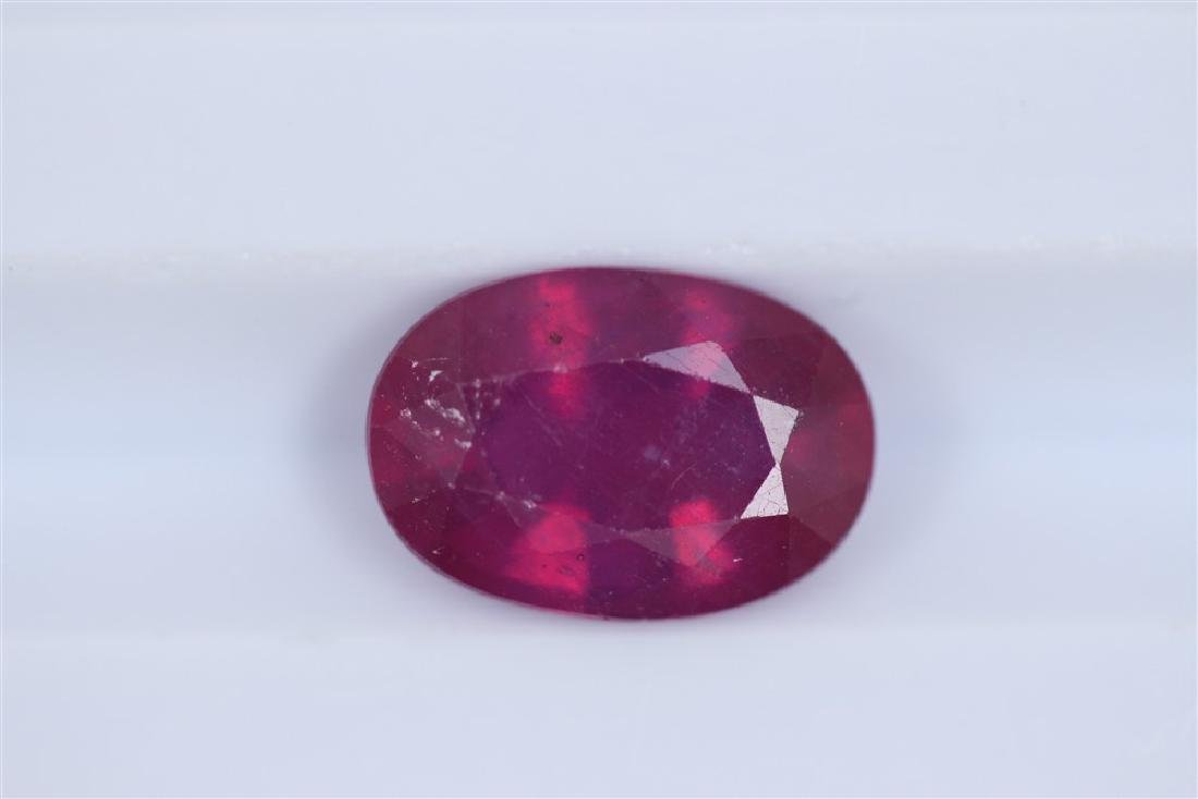 3.04ct Ruby Oval cut