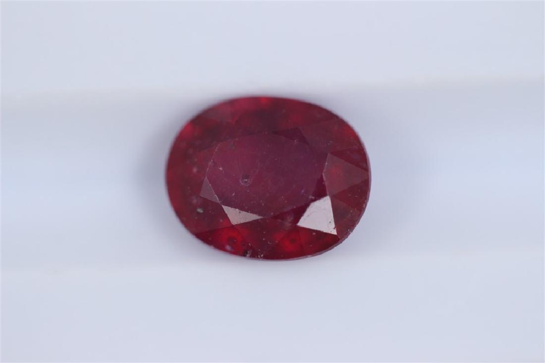 2.91ct Ruby Oval cut