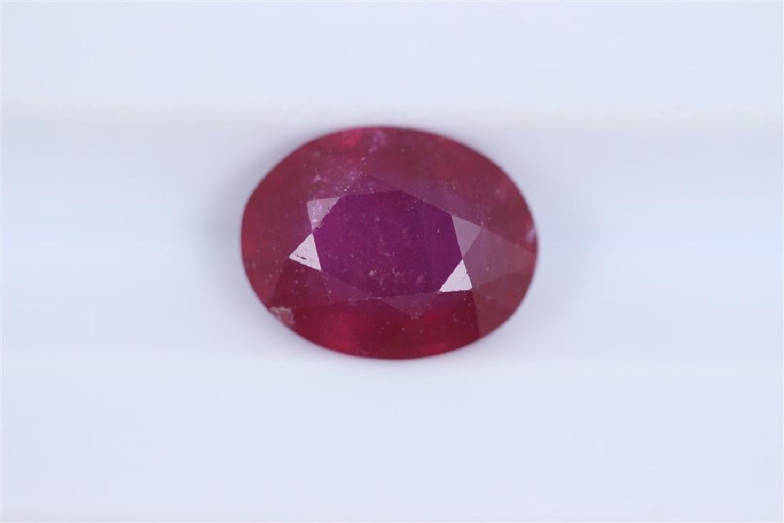 2.19ct Ruby Oval cut