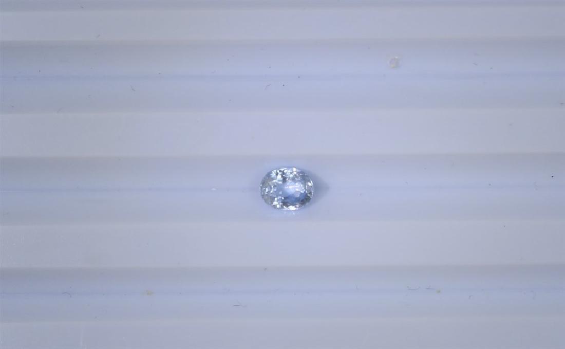 0.92ct Natural Ceylon White Sapphire 1pc Oval cut