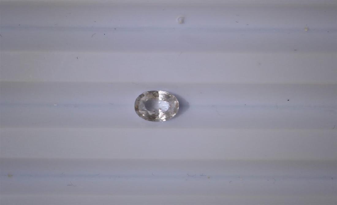 0.89ct Natural Ceylon White Sapphire 1pc Oval cut