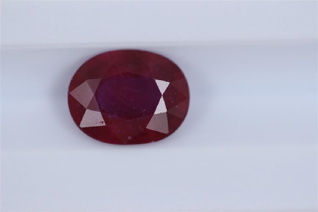 2.16ct Ruby Oval cut