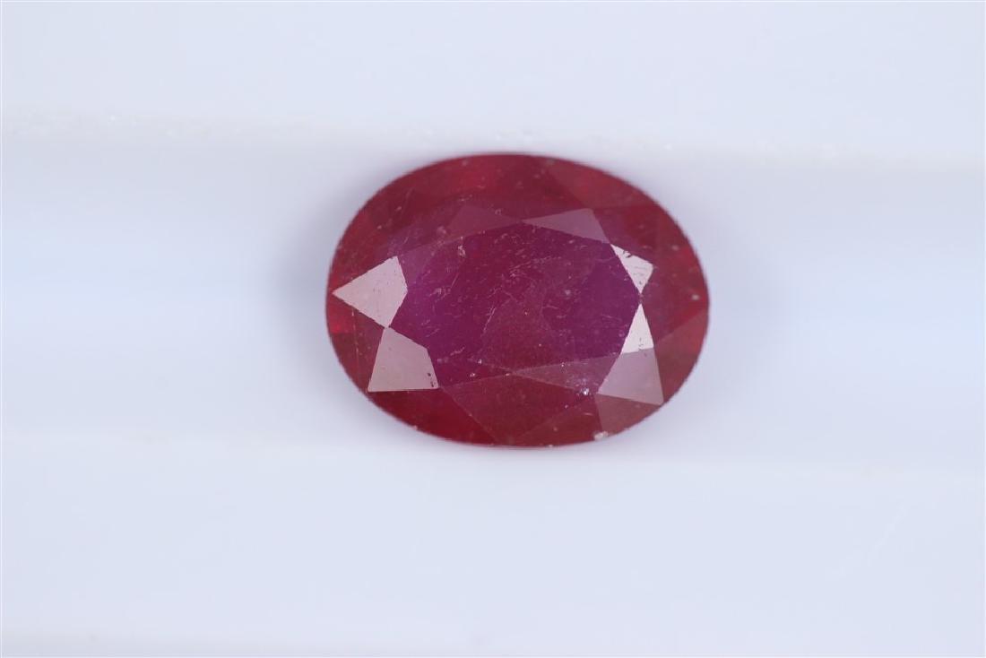 1.87ct Ruby Oval cut