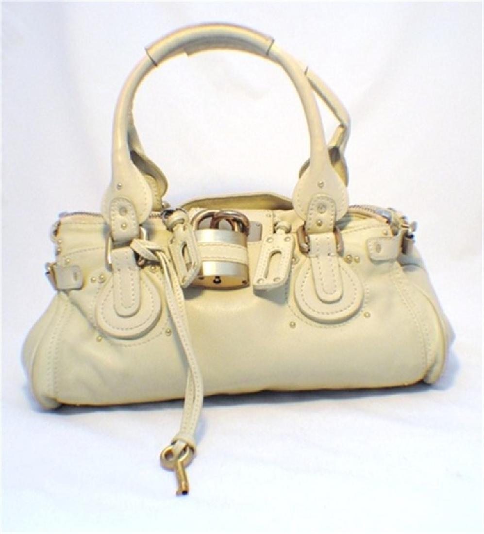 Chloe Beige Leather Handbag