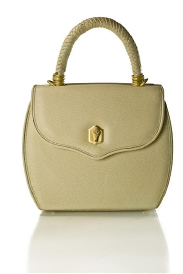 BARRY KIESELSTEIN-CORD CREAM LEATHER  HANDBAG