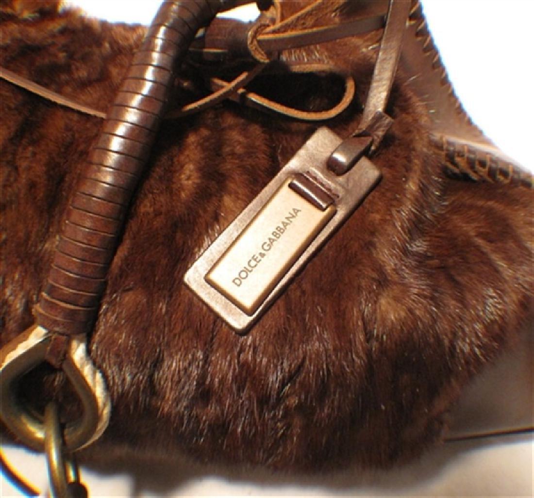 Dolce & Gabbana Mink Shoulder Bag - 7