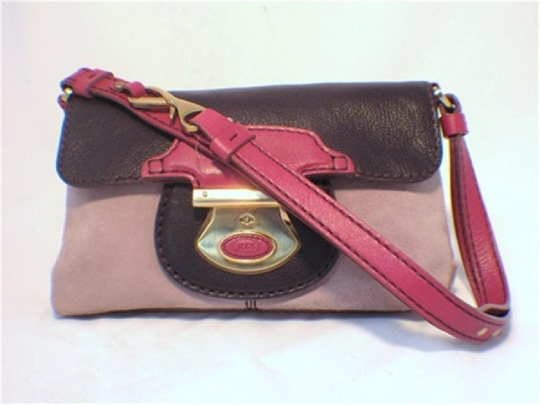 Tod‰Ûªs Rose Pink and Purple Leather Handbag