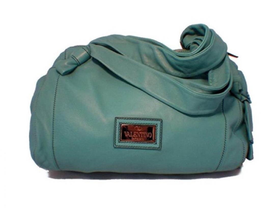 Valentino Teal Leather Shoulder Bag