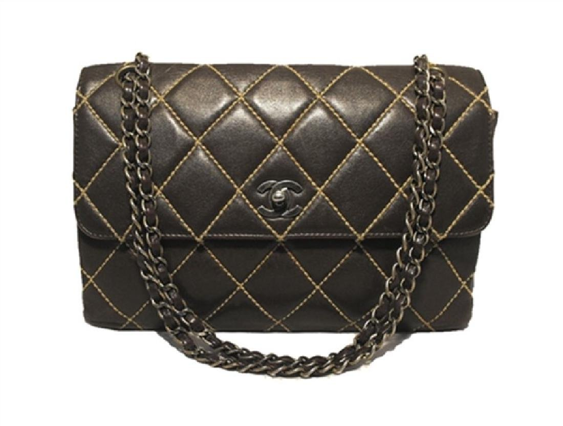 Chanel Brown Leather Maxi Flap Classic