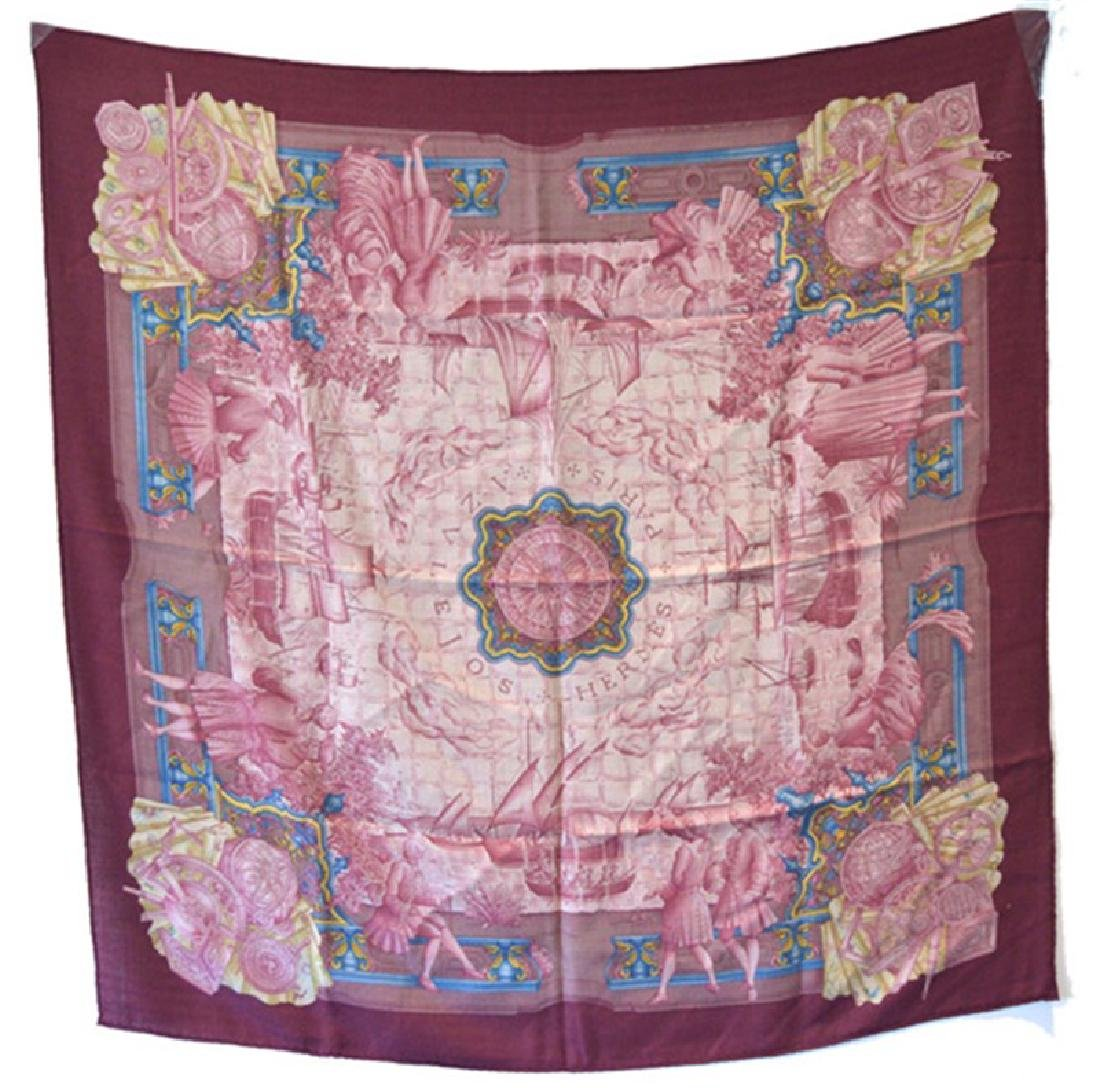 Hermes Azulejos Cashmere Scarf - Mint Condition