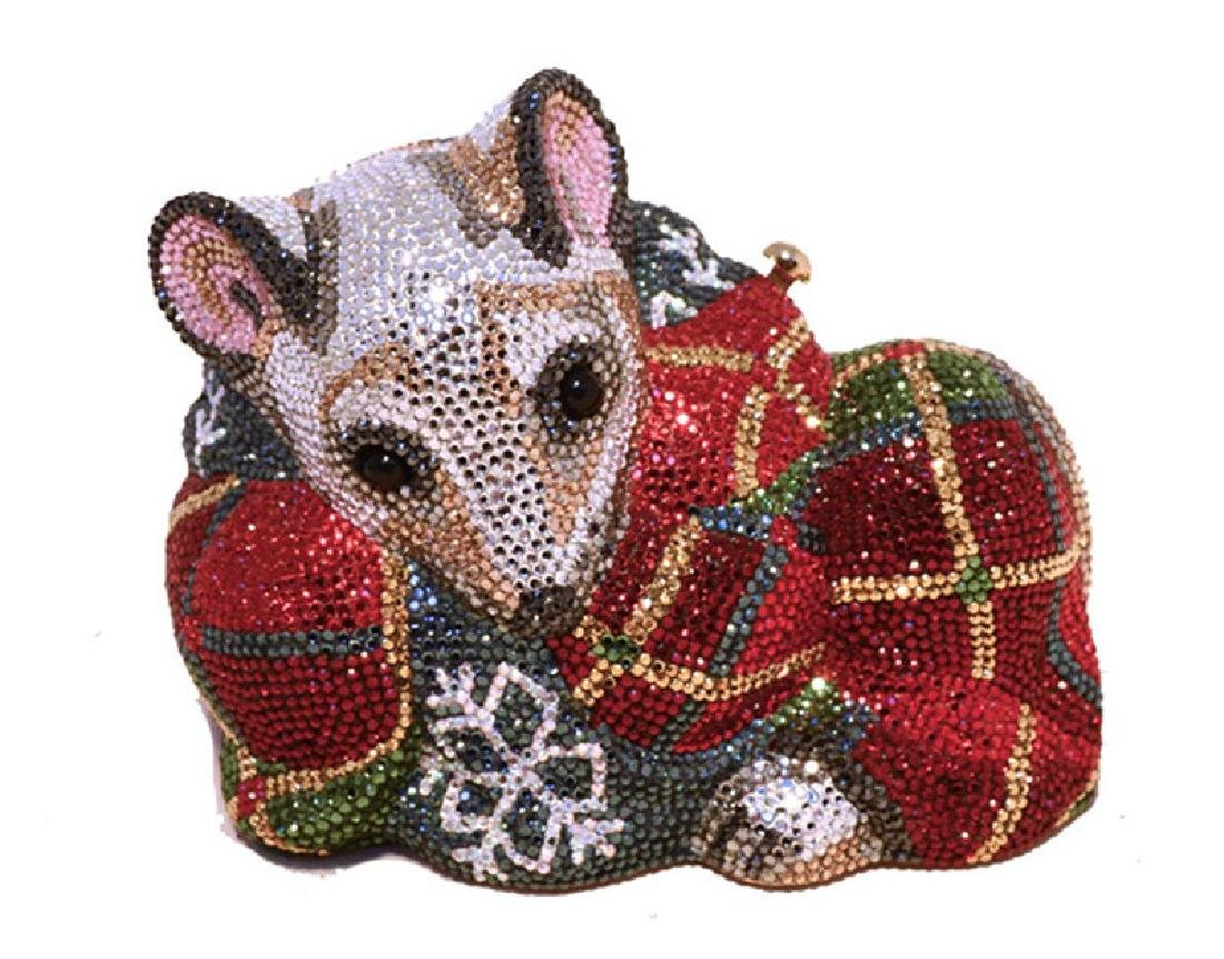 Judith Leiber Swarovksi Crystal Mouse Minaudiere