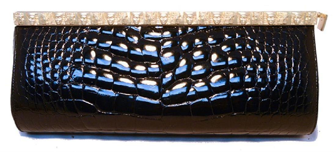 Barry Kieselstein-cord Black Alligator Clutch