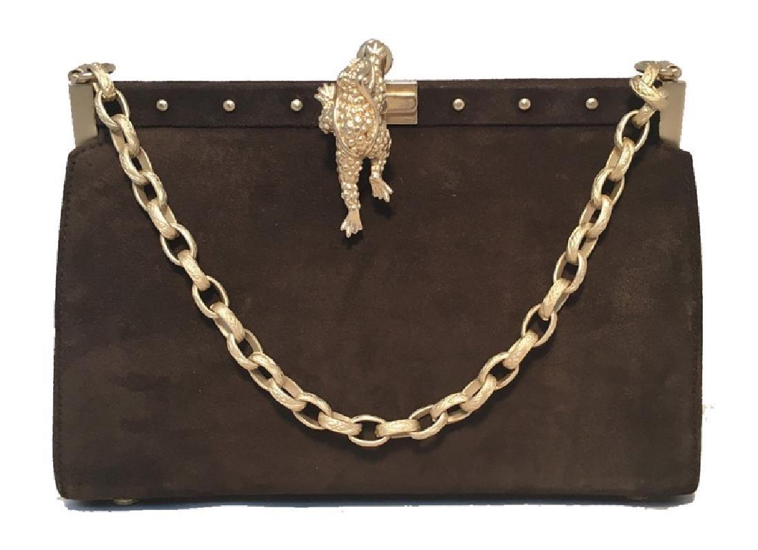 Barry Kieselstein-Cord Brown Suede Handbag