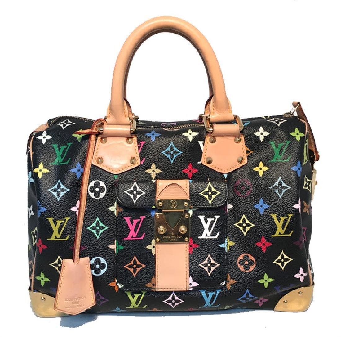 Limited Edition Louis Vuitton Black Monogram Murkami