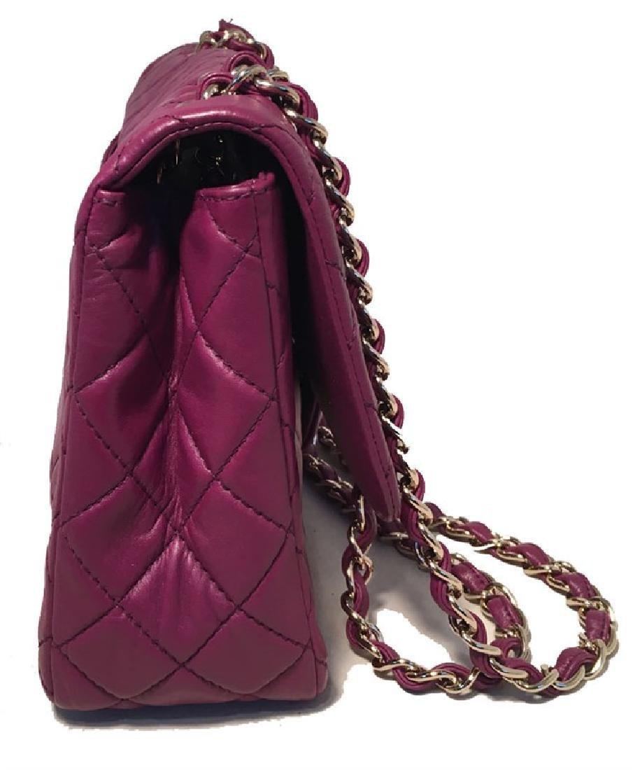 Chanel Purple Leather Jumbo Classic Flap Shoulder Bag - 2