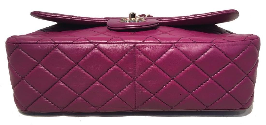 Chanel Purple Leather Jumbo Classic Flap Shoulder Bag - 4