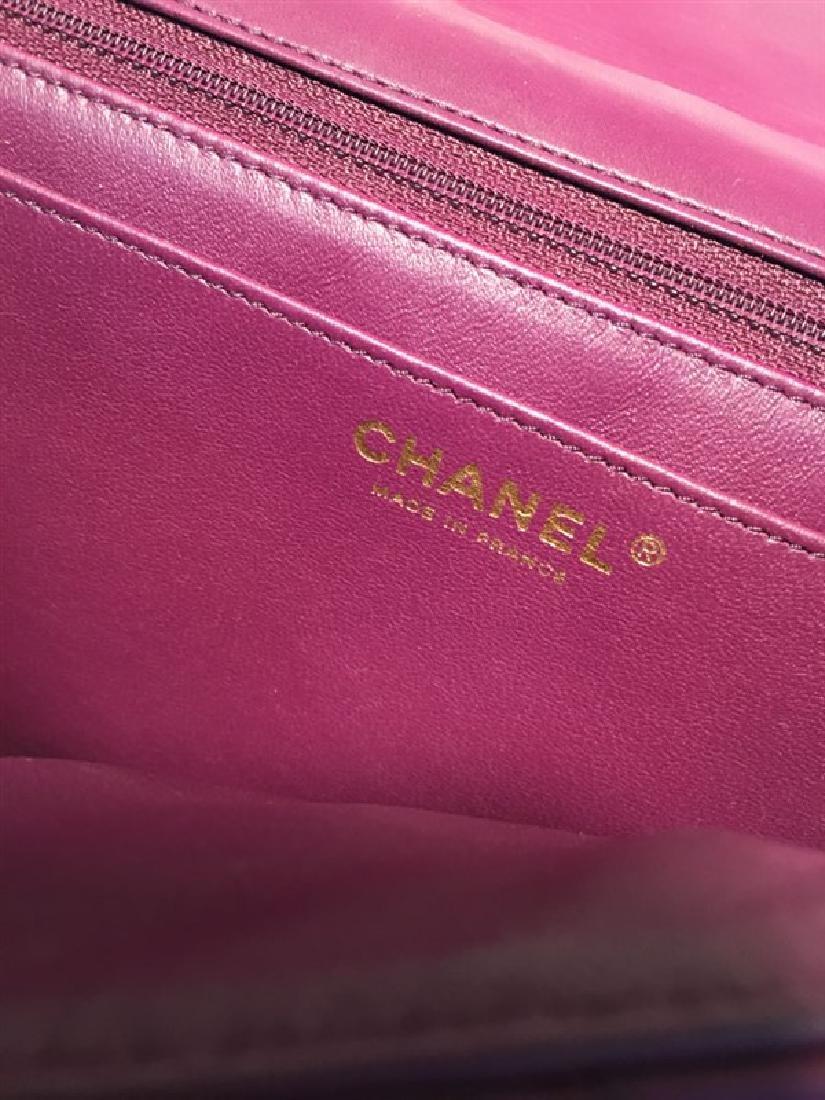 Chanel Purple Leather Jumbo Classic Flap Shoulder Bag - 5