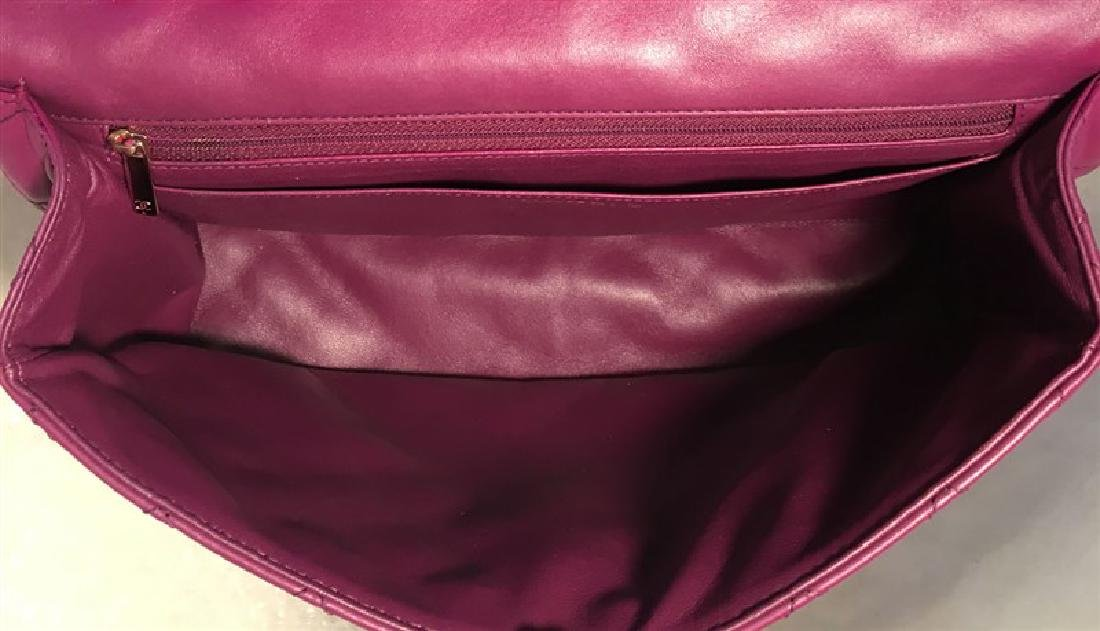 Chanel Purple Leather Jumbo Classic Flap Shoulder Bag - 6