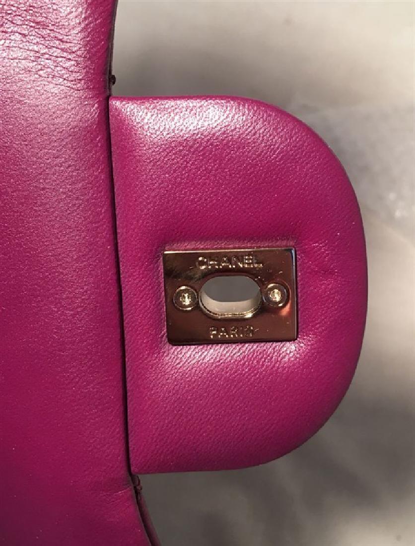 Chanel Purple Leather Jumbo Classic Flap Shoulder Bag - 7