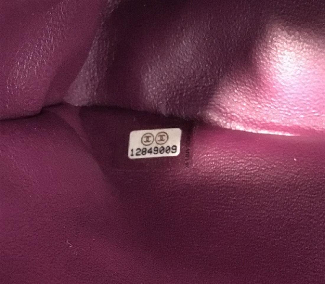 Chanel Purple Leather Jumbo Classic Flap Shoulder Bag - 9