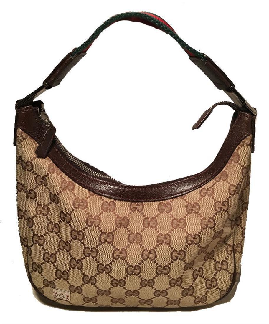 RARE Gucci Monogram Canvas Mini Handbag