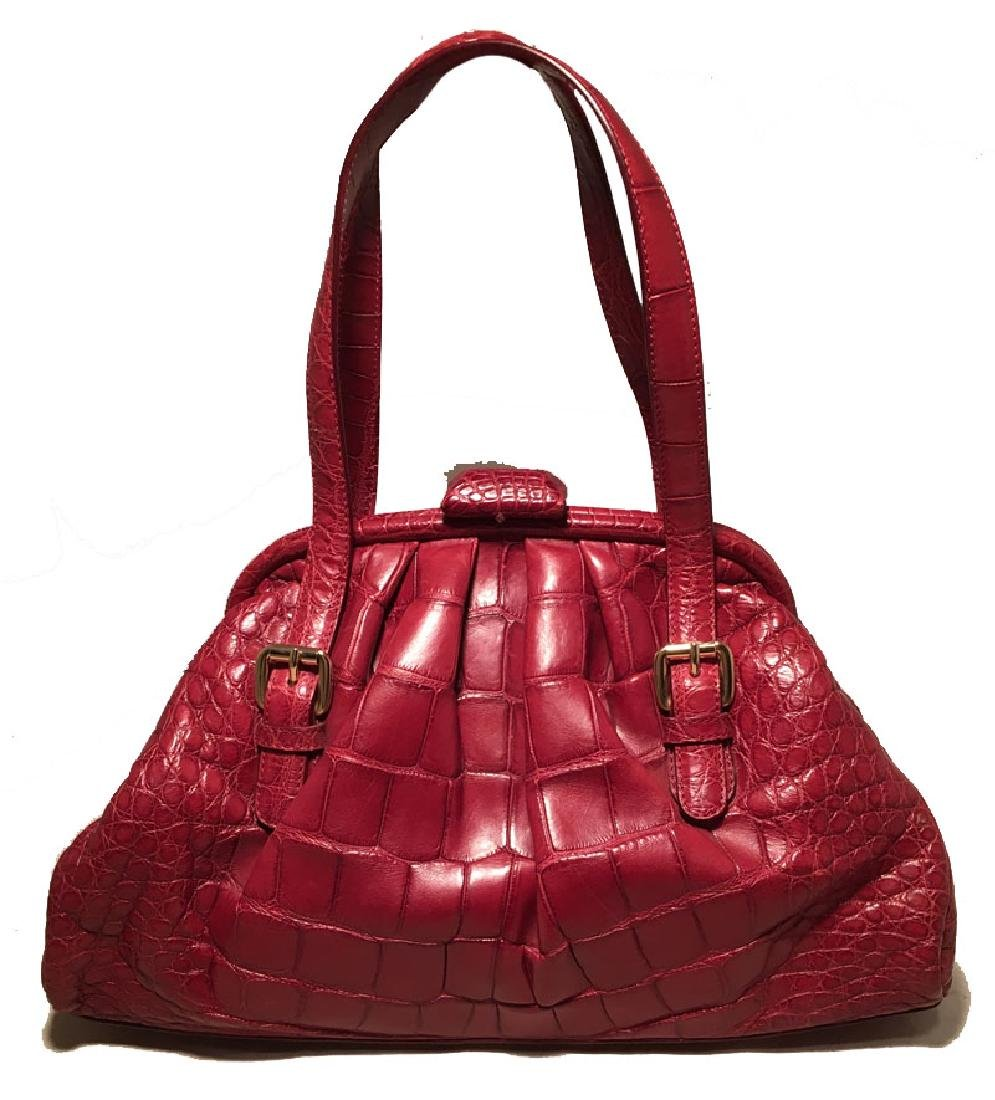 Brooks Brothers Red Alligator Doctor Bag