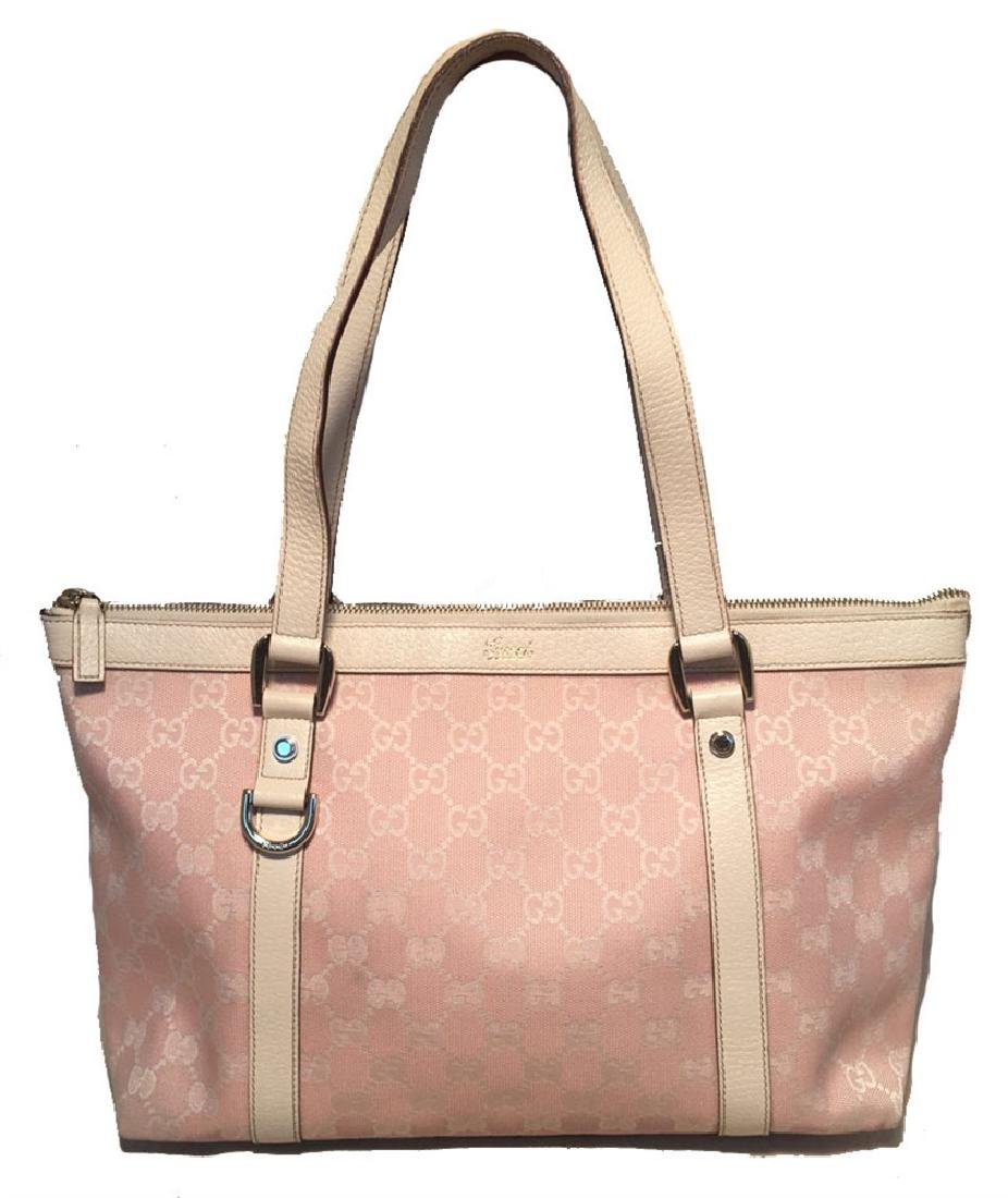 Gucci Pink Monogram Medium Abbey Shoulder Bag Tote