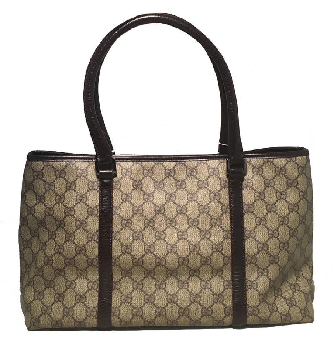 Gucci Monogram Joy Tote PM Dark Brown