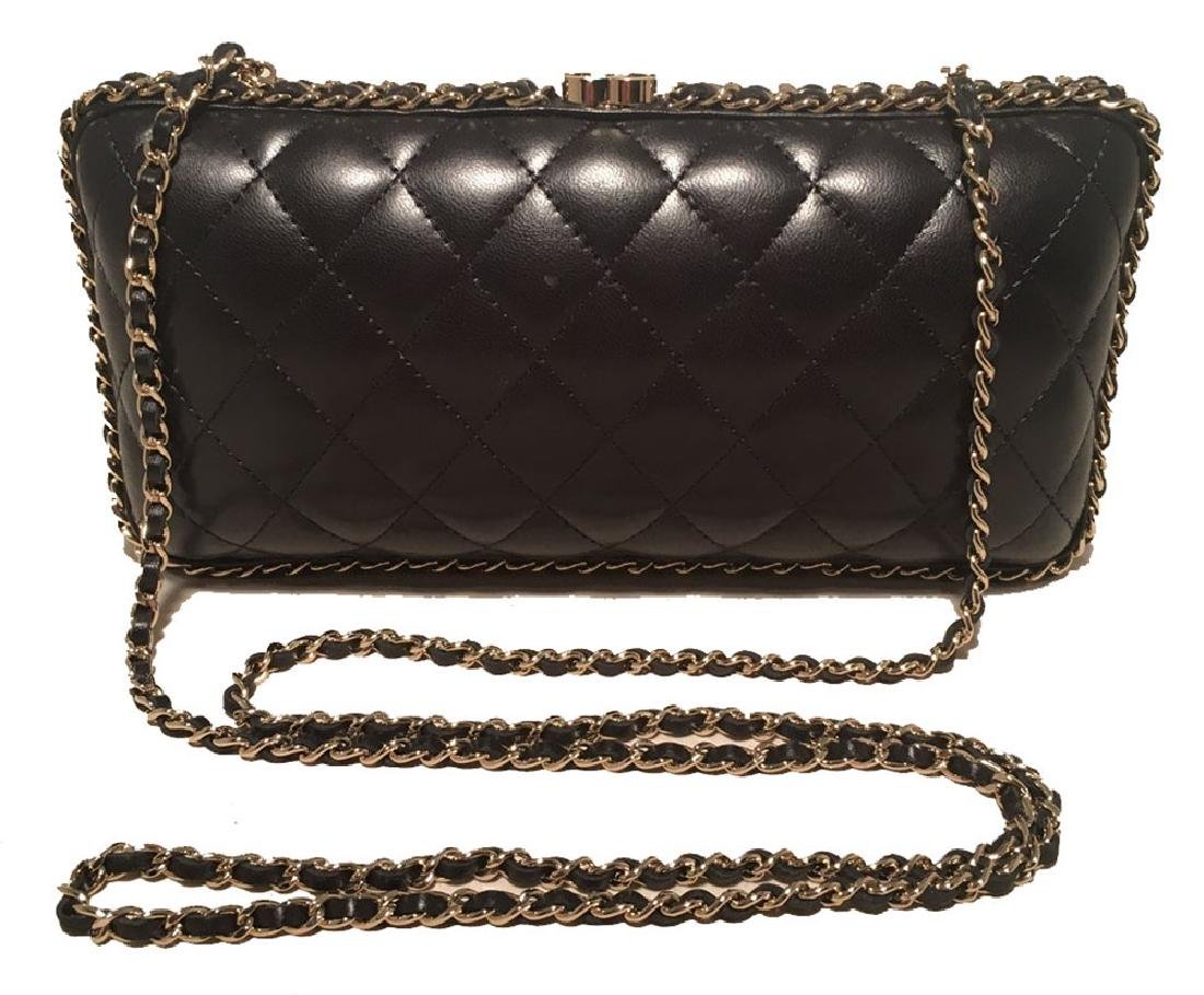Chanel Black Quilted Lambskin Leather Convertible