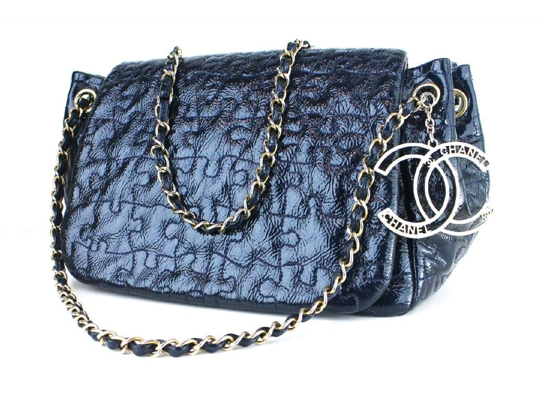 CHANEL Patent Puzzle Accordion Flap Bag