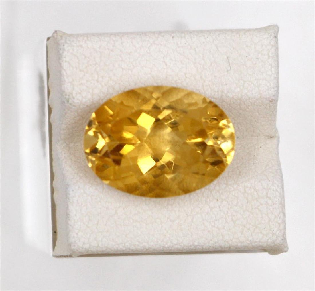 9.31ct Natural citrine oval cut