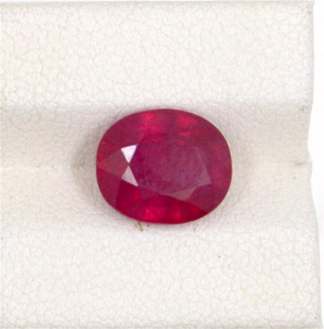 4.22ct  ruby oval cut