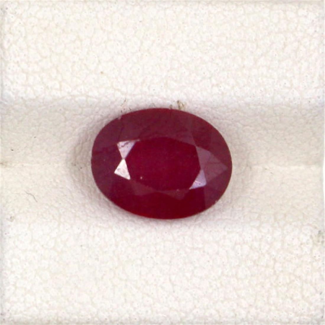 3.46ct  ruby oval cut