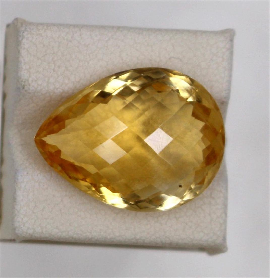 14.84ct Natural citrine pear cut