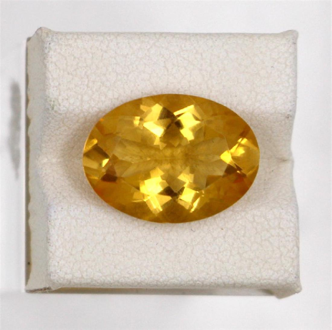 7.47ct Natural citrine oval cut
