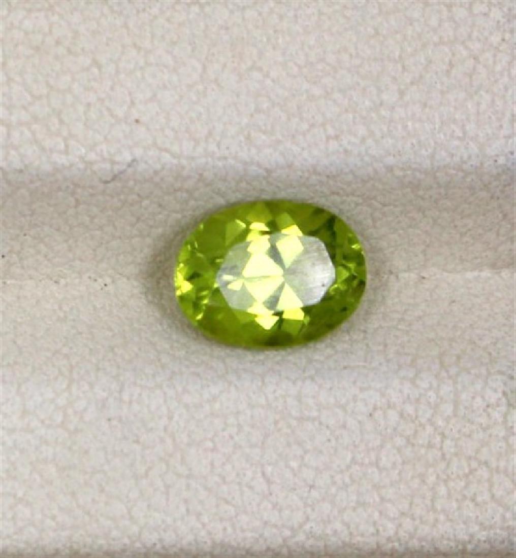 1.47ct Peridot oval cut