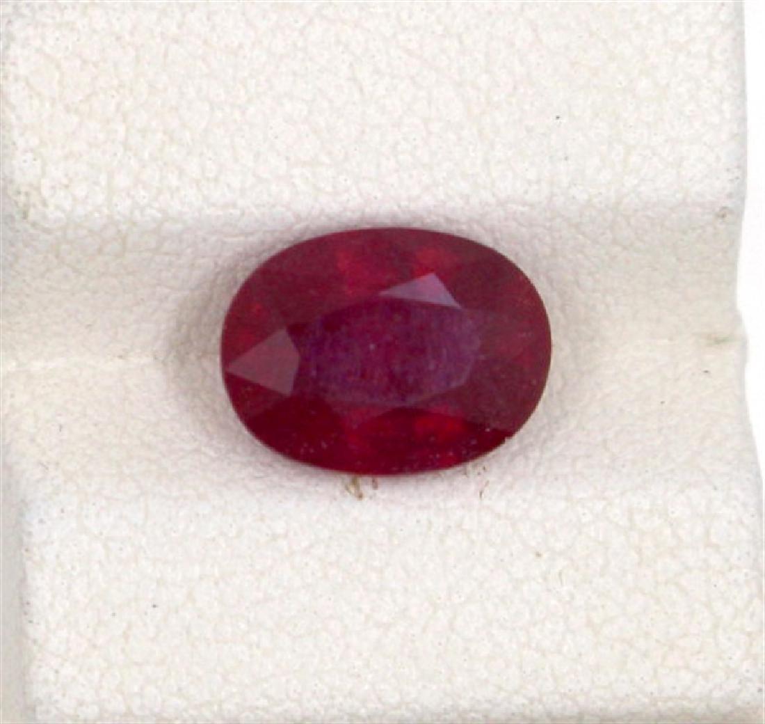 4.03ct  ruby oval cut