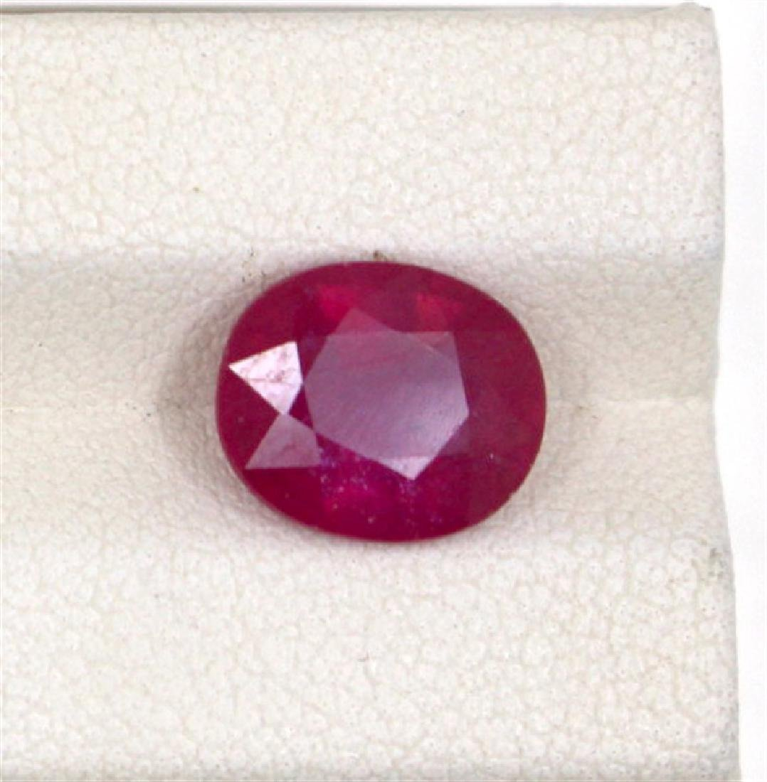 4.12ct  ruby oval cut