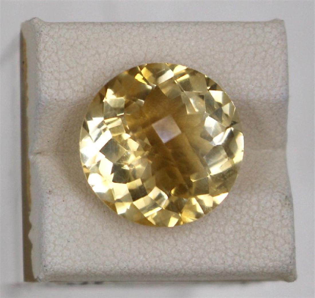 10.02ct Natural citrine round cut