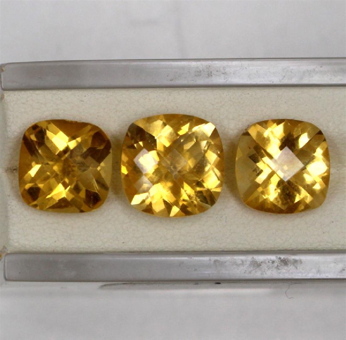 11.41ct Natural citrine cushion cut set-3 pcs