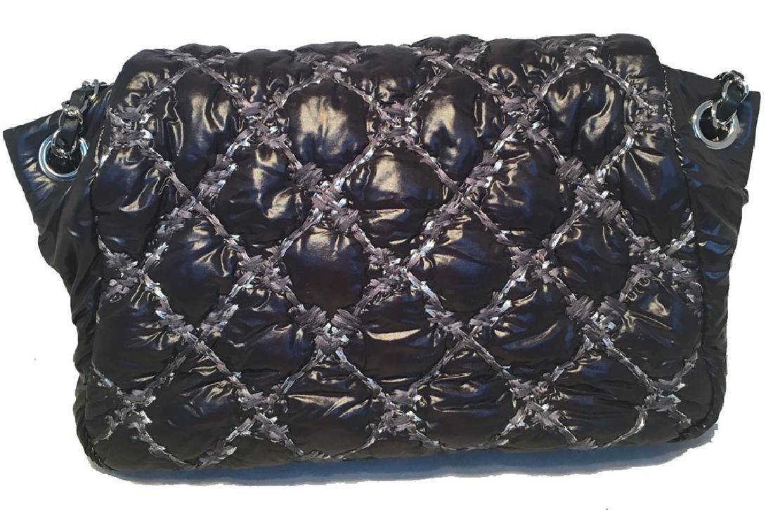 Chanel Puffy Black Nylon Raincoat Classic Flap Shoulder - 2