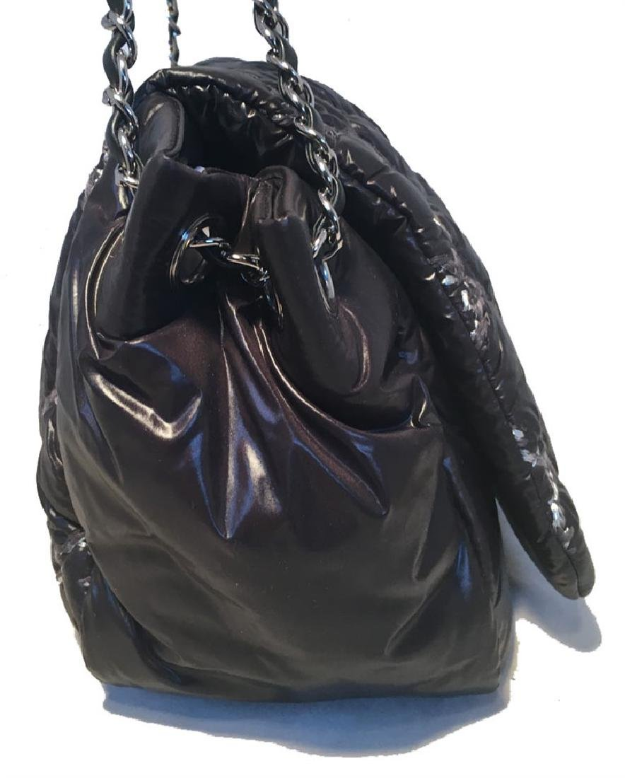 Chanel Puffy Black Nylon Raincoat Classic Flap Shoulder - 3